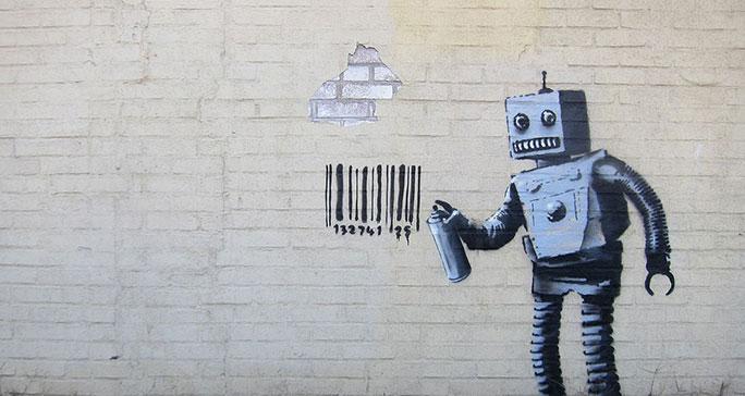 Banksy robot