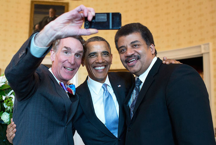 Bill Nye, Barack Obama and Neil deGrasse Tyson