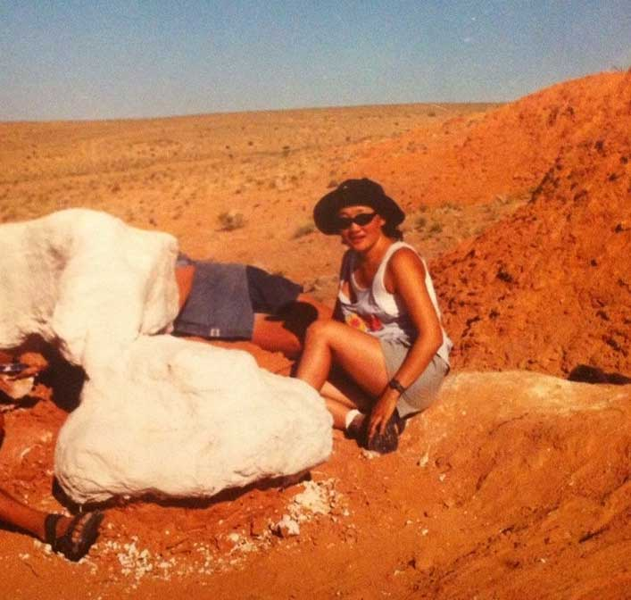 girl in the outback
