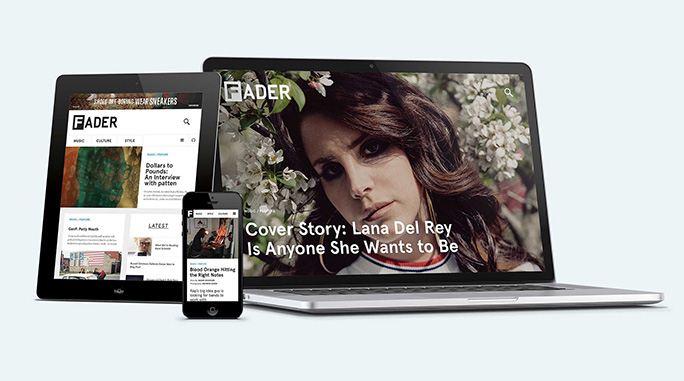 Fader Web Design by Wondersauce