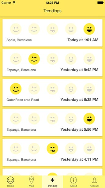 The Happy App User Interface