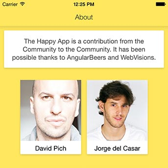 Detail of The Happy App User Interface