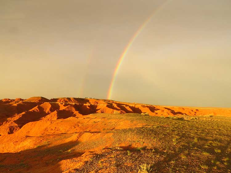 Rainbow in outback